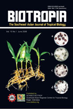 BIOTROPIA Vol 15 No 1 (June 2008)